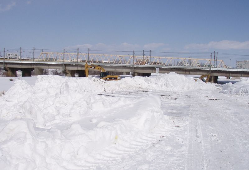 作業のため除雪されていたところ