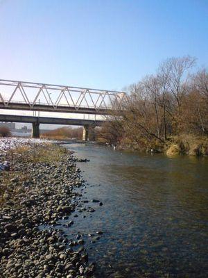 JR鉄橋下流