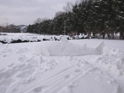 今日の雪像