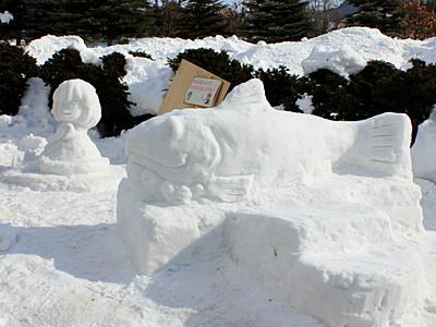 雪像完成!