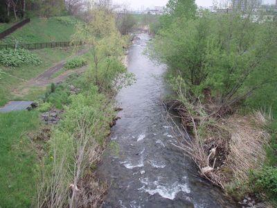 通常時の真駒内川