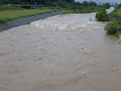 増水時の豊平川