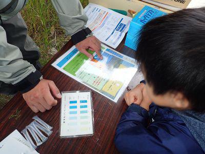 真駒内川をキレイにしよう_水質検査